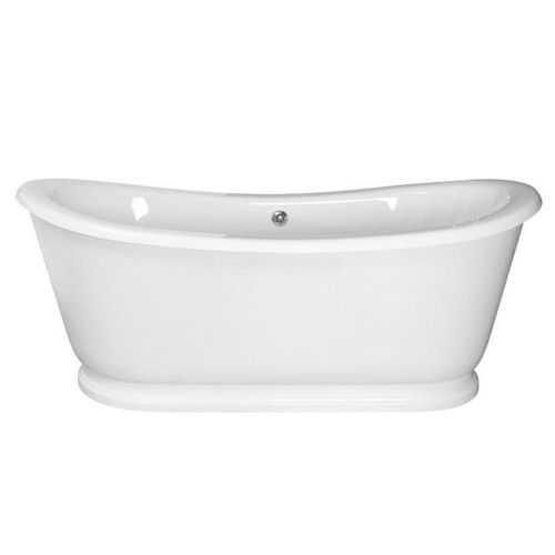 Alice 1740mm x 800mm Double Ended Slipper Freestanding Bath With Skirt